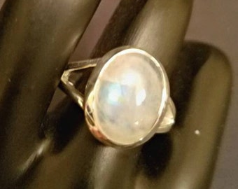 Moonstone Sterling Silver Ring size 10.75