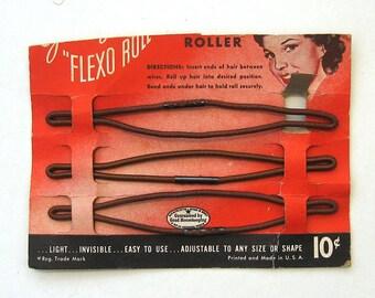"40's Goody Flexo Roll 5"" Hair Rolls. Set of 3"
