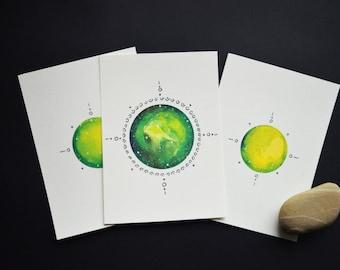 Earth Element Postcards