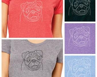 Women's Pug Tshirt