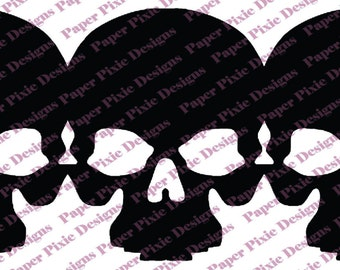 Triple Skull Vinyl Decal