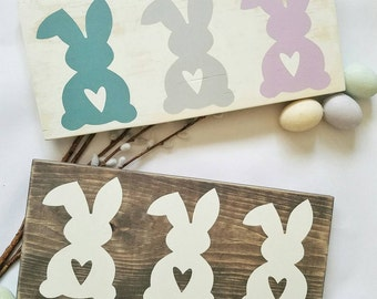 Easter Decoration - Easter Bunny - Easter Bunny Sign - Rustic Easter Decor - Rustic Easter Bunny - Easter Sign - Easter Wood Sign