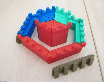 3D Castle Panic Pieces