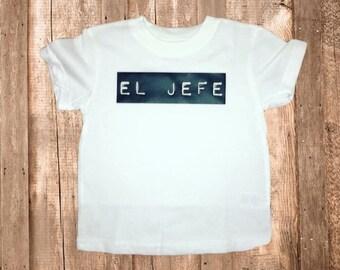 Funny Kids Shirt | Funny Shirt for Kids | El Jefe | Kids Graphic Tee | Boys Shirt