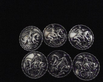 Berthold Muller Antique Silver Buttons