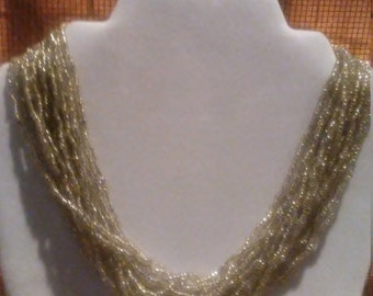 Silver multi-strand necklace