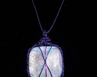 Pink, Purple & Blue Dichro Glass Pendant