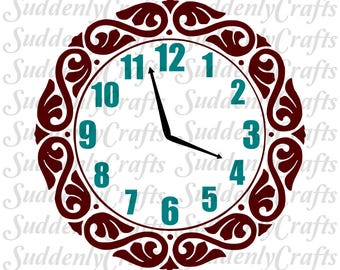 Play Kitchen Wall Clock SVG