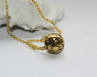 Chain pendant, 925 Silver gold plated, Ball pendant, removable jewelry, hole size 4 mm, ball size 10 mm
