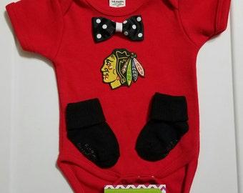 Blackhawks baby   Etsy