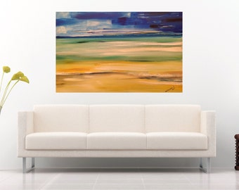 Abstract Landscape Painting Large Abstract Oil Painting Canvas Modern Art Wall Art Canvas Ukrainian Art Home Interior Painting Large Canvas
