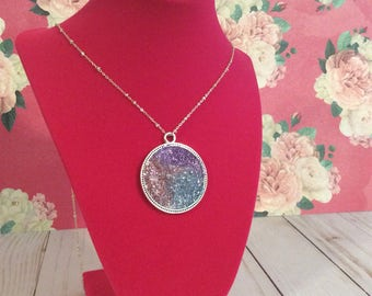 Multiple  color druzy necklace