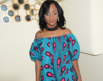 Ankara Print Over-sized Top