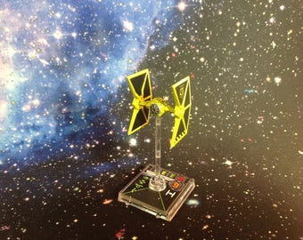 Star Wars X-Wing Miniatures Custom Painted & Modified Mining Guild TIE