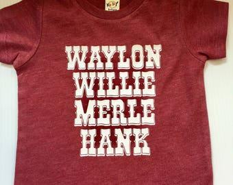 Willie Waylon Merle Hank