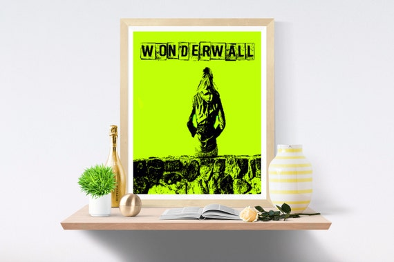 Wonderwall, Oasis, Printable Art, Wall Print, Music Print, Music Prints, Wall Art Print, Wall Art Prints, Digital Paper,Art Print,Art Prints