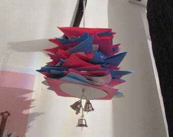 Blue and Pink Paper Shredder/Shredding Bird Toy