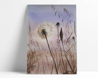 Original watercolor painting, Flower painting, Original fine art