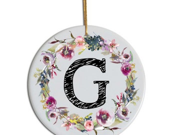 Monogram Ornament, Just Married Ornament, Custom Ornament, Christmas Ornament, Anniversary Ornament , Christmas Gift for Her, 2016 Ornament