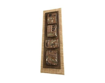 Ceramic & Wood Wall Hanging