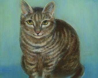 Pet Portrait, Oil Painting, Cat Art