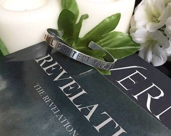 I will protect you, always: Bracelet, From The Revelation Series
