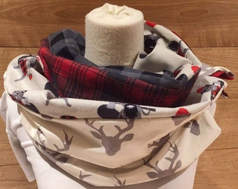 Aprox patchwork flannel Stags and beavers!