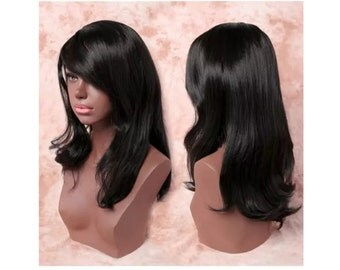 1B Long Synthetic Curly Wig
