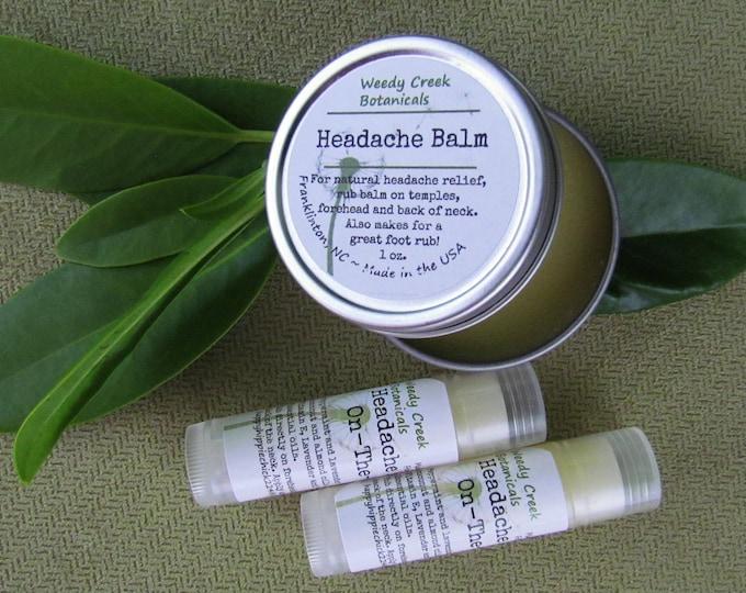 Headache Balm, Headache Relief, Lavender Mint Headache Ointment