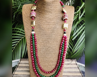 Indian Bollywood ethnic traditional royal gift her necklace