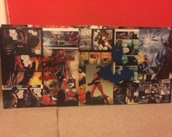 Batman, comic , art. Wall art, canvas, spray paint,