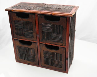 Wood Table File Cabinet