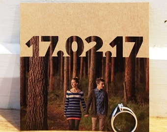12xSave the date's custom with your favourite engagment photo !