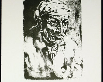 Art from the GDR. Untitled, 1966. Lithograph by Ernest G. REUTER