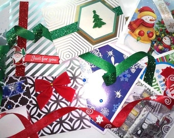 10 Assorted Christmas Cards with recovery messages on the inside!