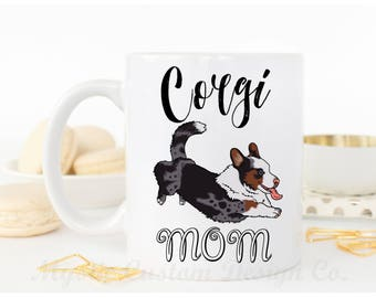 Cardigan Corgi Coffee Mug, Blue Merle Corgi, Corgi Lover Gift, Corgi Mug, Blue Merle Corgi Mug, Corgi Gifts, Corgi Mom Gift, Pet Mother