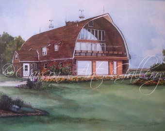 """House Barn """"Planted in Country #2"""": Digital Print by Colleen Carson"""