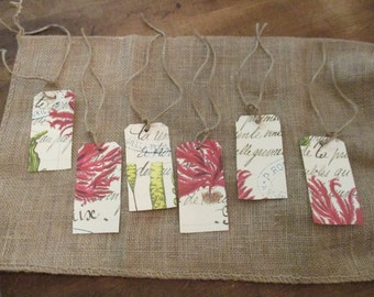 French Cottage Botanical Gift Tags
