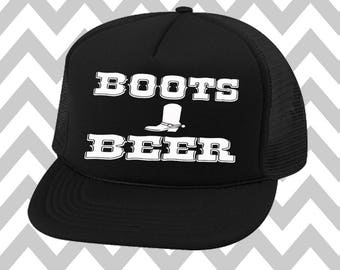 Boots and Beer Trucker Hat Snapback Hat River Rat River Hat Lake Hat Havasu Life Adjustable Trucker Hat Country Music Festival 4th of July