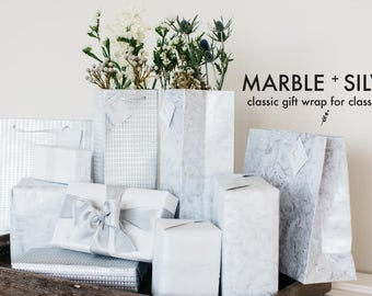 Natural Marble - Recycled Cotton Wine Bag
