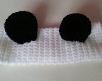 Panda ear warmer hat