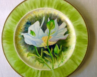 White water Lilly plate
