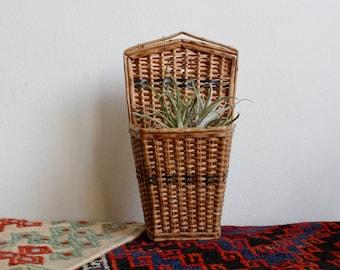Boho Wicker Hanging Basket Planter, Succulent Planter, Woven Rattan Hanging Planter, Hanging Planter, Decorative Basket, Hanging Planter