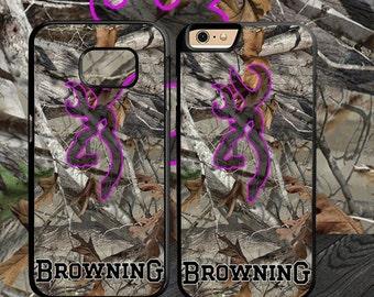 Browning Deer Camo - iphone 4 4s 5 5s 5c 6 6s 7 samsung galaxy s3 s4 s5 s6 s7 edge plus phone case wallet cases
