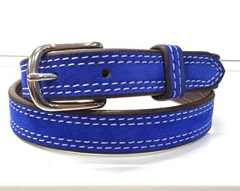Cobalt Blue Suede Belt, Cobalt Blue Leather Belt, Cobalt Blue Belt, Blue Suede Belt, Blue Leather Belt, Blue Belt, Royal Blue Belt, Women's