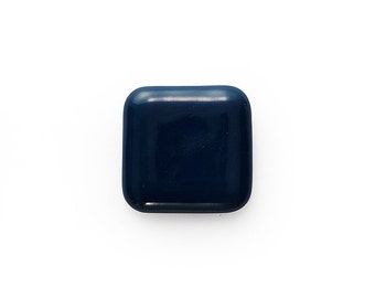 Ceramic Marine Blue Square Cabochon 1 piece