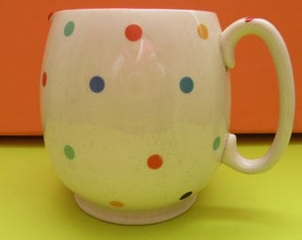 Vintage Gift. Sadler 1940 Milk Jug. Sadler Large Polka Dot Jug. Vintage Kitchen. Vintage 1940 Jug. Vintage Gift. Polka Dots Jug.
