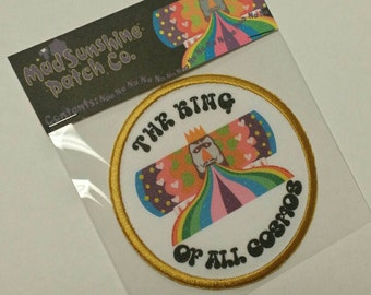 The King of All Cosmos printed patch!  Katamari forever!