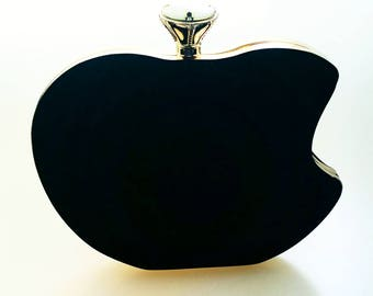 Black Apple Clutch