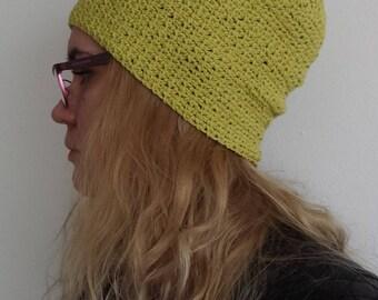 Cotton hat, Summer beanie, Hat Spring, Hat Hipster beanie, Cotton beanie, Womens crochet hat, Summer hat for her, Spring hat, Handmade Hat